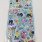 Q-Lia Melody Cat Glittery Hard Epoxy with Rhinestones Sticker Sheet