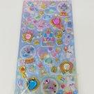 Q-Lia Merry Go Round of Memories Bunny Magical Glittery Hard Epoxy with Rhinestones Sticker Sheet
