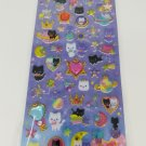 Q-Lia Hopping Candy Space Cats Glittery Hard Epoxy with Rhinestones Sticker Sheet