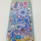 Q-Lia Frozen Snow Princess Fantasy Glittery Hard Epoxy with Rhinestones Sticker Sheet