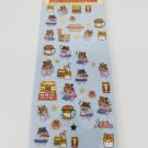 Q-Lia Hamsters and Hamster Fast Foods #1 Sticker Sheet *USED*
