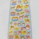 Crux Hamsters and Stars Transparent Blue Sticker Sheet