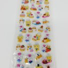 Kamio Hamster, Bears, and Bunny Sweets Metallic Puffy Sticker Sheet