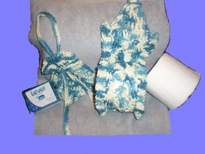 Spare Bathroom Tissue Holder and Soap on a Rope Pouch