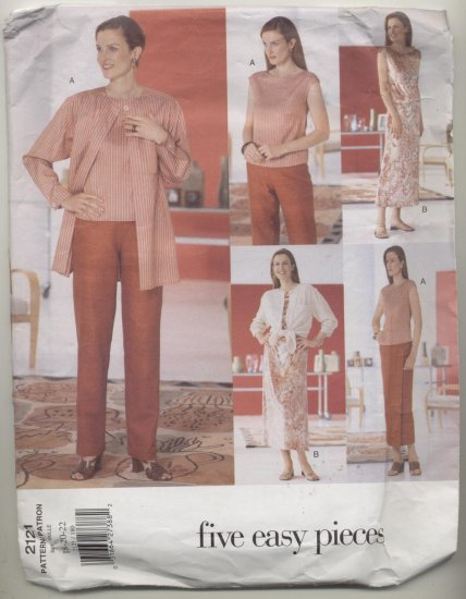Vogue Five Easy Pieces Wardrobe Sewing Pattern #2121 Size 18-20-22