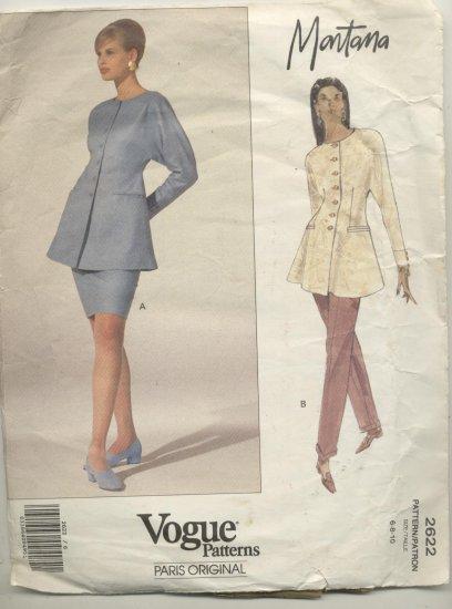 Vogue Paris Original Montana Sewing Pattern  #2622 Sizes 6-8-10
