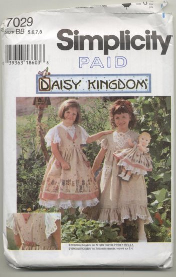 Daisy Kingdom Simplicity Sewing Pattern #7029 Sizes 5-8