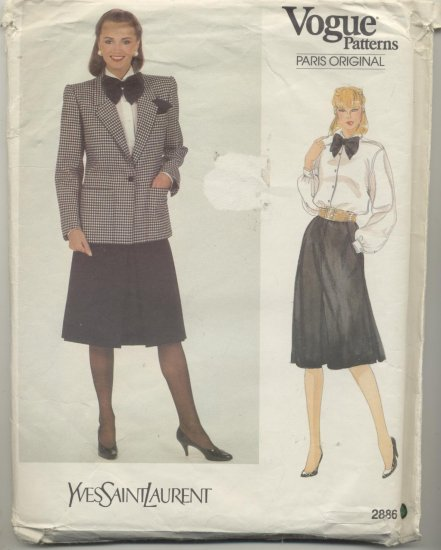 Vogue American Designer Joseph Picone Sewing Pattern Pants & Skirt #2829 Size 16