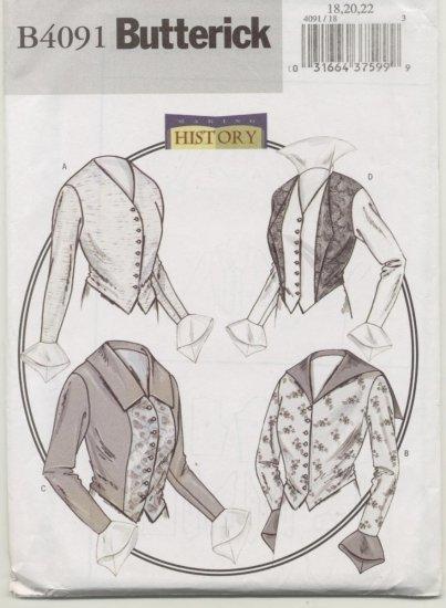 Butterick Costume Pattern 4091 Women's Blouses Sizes 18-22