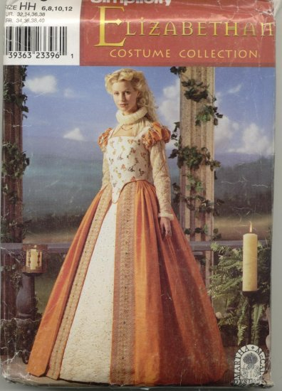 Simplicity Costume Pattern 0679 Elizabeth Sizes 6-12