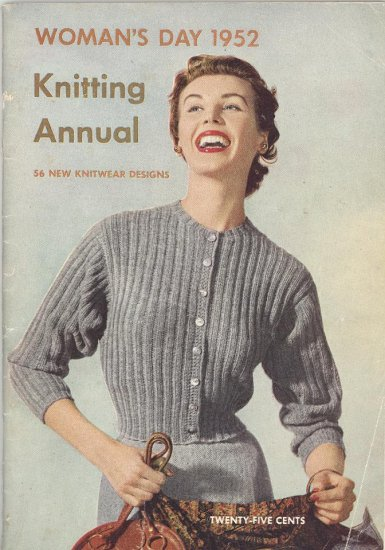 Vintage Knitting Patterns 1952 Woman's Day Annual Book 56 Patterns