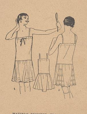 Pictorial Review 1925 Sewing Pattern 5049 Ladies Combination Undergarment  Flapper, Roaring 20's