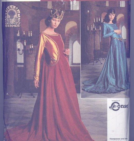 Simplicity Costume Pattern 8725 Martha McCain Medieval Dress Sizes 16-20
