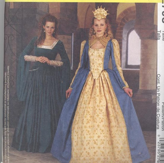 Elizabethan Costume Sewing Pattern McCalls 2798 Womens 14-18