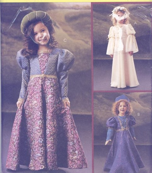 Children's Renaissance Costume Sewing Pattern McCall's 4082