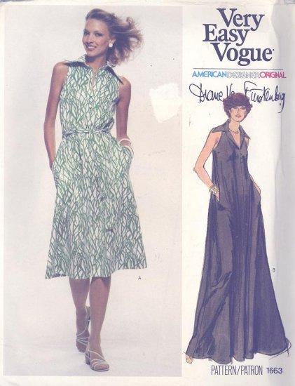 Vogue Diane Von Furstenberg American Designer Collection Sewing Pattern Vogue 1663