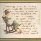 Babies Don't Keep Crewel Embroidery Kit 1977 Sunset Designs Lynn Davis