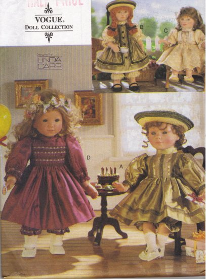 Party Dresses for American Girl Dolls Sewing Pattern Vogue 9965  by Linda Carr
