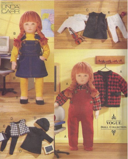 Back to School Outfits for American Girl Dolls Vogue 9866 Sewing Pattern by Linda Carr