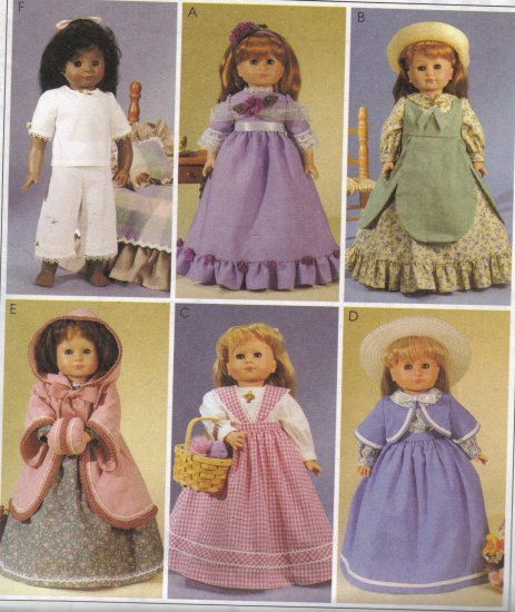 6 Historical Outfits for American Girl Dolls McCall's 2609 Sewing Pattern