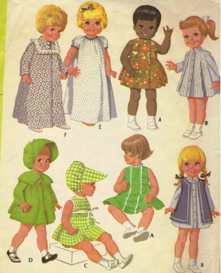 Vintage Doll Clothes Sewing Pattern McCalls 2157 Sewing Pattern