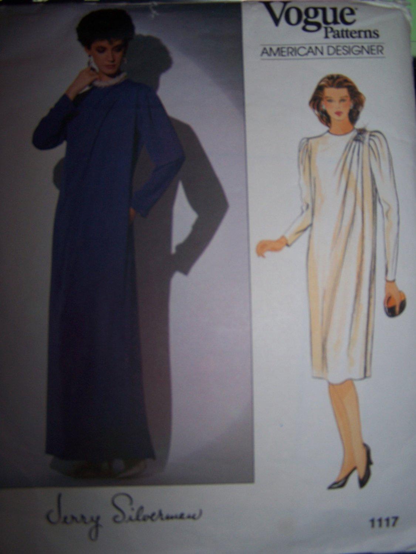 Vogue American Designer Jerry Silverman Sewing Pattern A Line Dress 1117 Size 18