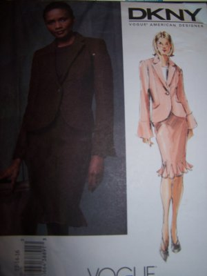 DKNY Jacket, Skirt Vogue Sewing Pattern 2833