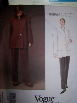 Geoffrey Beene Jacket and Pants Vogue Sewing Pattern 1486