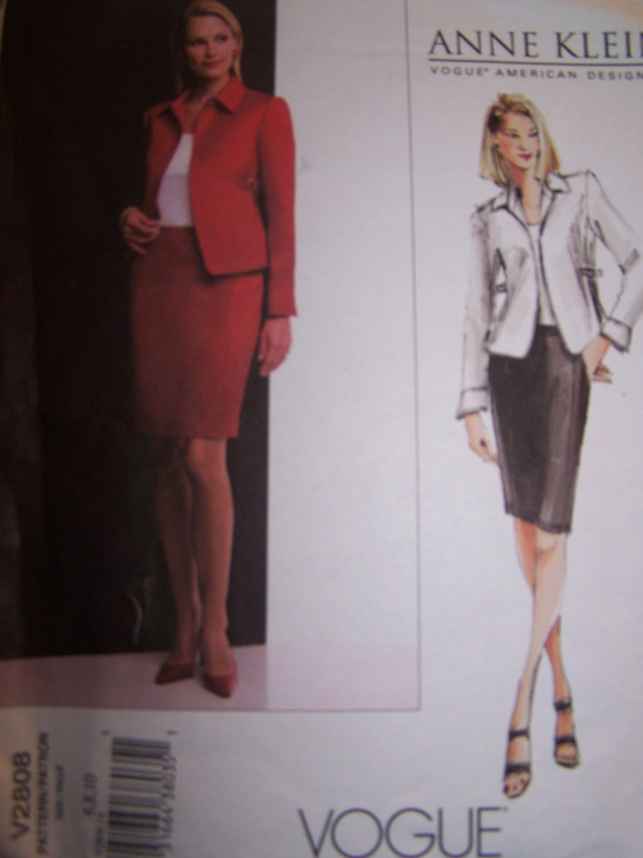 Vogue Sewing Pattern 2808 Anne Klein Jacket and Skirt
