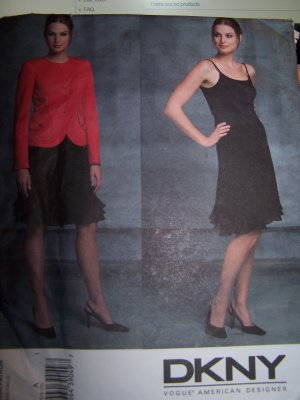 Vogue Sewing Pattern 2844 DKNY Jacket, Skirt Sizes 18-22