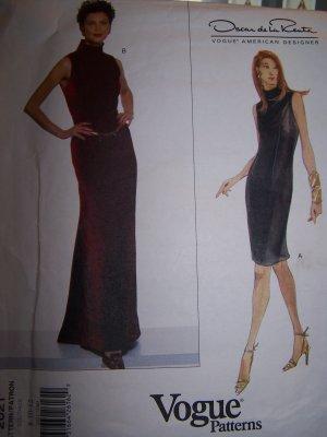 Vogue 2021 Sewing Pattern Oscar de la Renta Dress Sizes 8-12