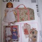 "McCalls Sewing Pattern 9119 Carry Case & Accessories Trunk for 18"" Dolls"
