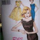 Butterick 6582 Retro 60  Dress SHeath or Full Skirt Sizes 12-16