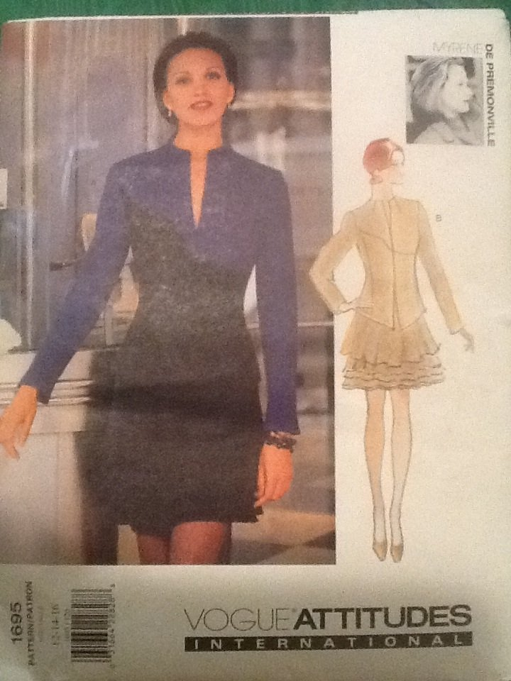 Vogue Designer Sewing Pattern 1695 De Premonville Skirt Top 12-16