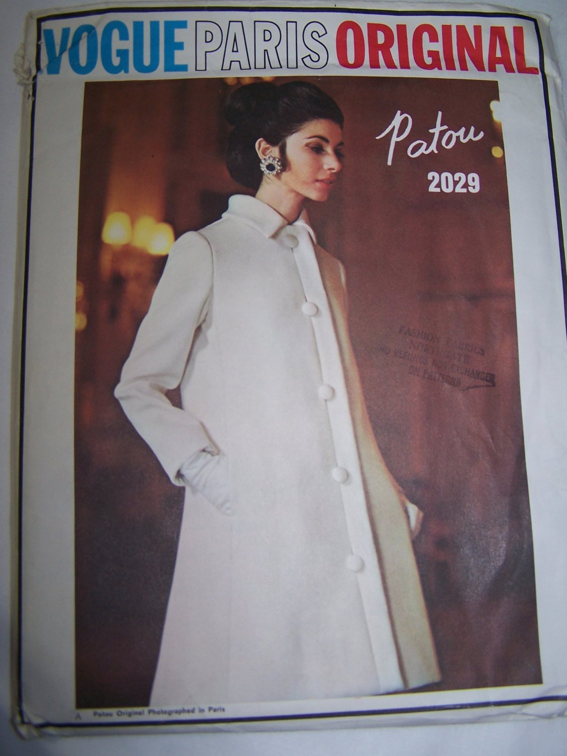 1960's Vintage Vogue Paris Original Sewing Pattern 2029 Patou Dress & Jacket