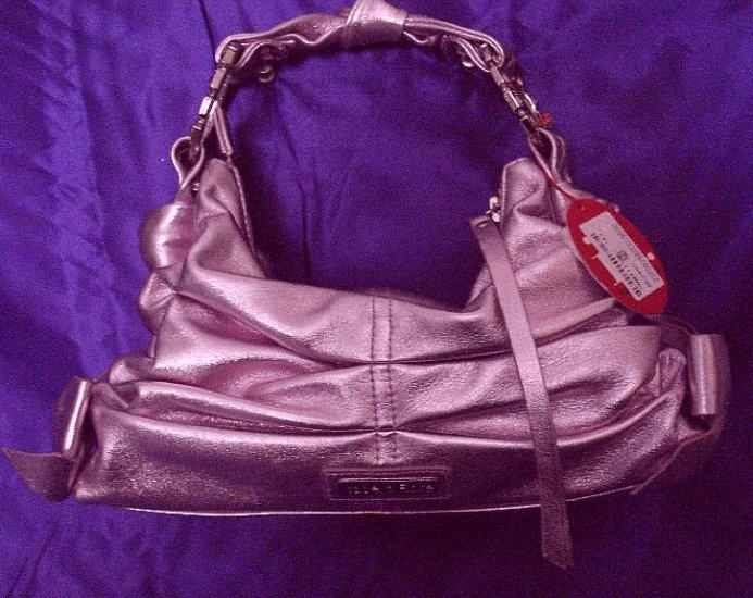 Isabella Fiore Metallic Evening Handbag in Lilac