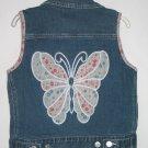TCP The Children's Place Denim Butterfly Vest 7 8