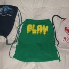 """Play"" Large Green T-Shirt Bag"