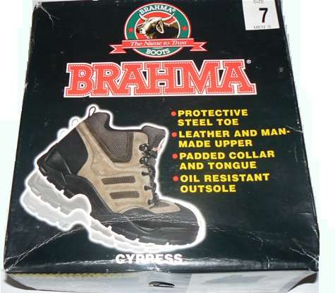 NEW! Brahma Cypress Steel Toe Boots - MENS SIZE 7 - NIB + FREE SHIPPING * LAST PAIR CLEARANCE