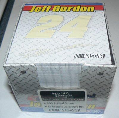 NEW #24 Jeff Gordon 400 CT. Personal Note Cube W/Box