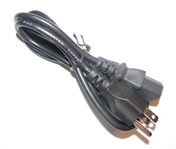 6FT Computer - Monitor AC Power Cable UL Rated Insulated Copper Wire BLACK -BULK- FREE SHIPPING!