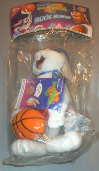 McDonalds 1996 Space Jam Bugs Bunny Plush Toy - Factory Sealed New! - NWT