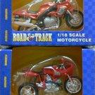 2 Maisto Road & Track 1/18 Scale Motorcycles (1) Triumph & (1) Ducati - NIB + FREE SHIPPING