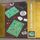 3-In-1 Casino Game Set - Roulette, Blackjack & Poker w/ Case - NEW & GIFT WRAPPED! + FS