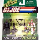 G.I. Joe Valor vs Venom SNAKE EYES vs STORM SHADOW GI JOE - MOC + FS