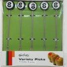 SHONFELD'S 8-BALL GARNISH PICKS 5-PK NEW & UNOPENED + FREE SHIPPING