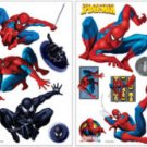 SPIDERMAN PEEL N STICK ROOM APPLIQUES -  VINYL STICKERS RMK1045SCS - NIP + FREE SHIPPING!