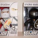 GI JOE MIGHTY MUGGS SNAKE EYES AND STORM SHADOW BY HASBRO LOT OF 2 *NIB* HTF + FS
