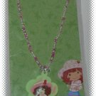 Strawberry Shortcake Beaded Pink Necklace With Pendant - NIP & FREE SHIPPING
