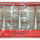 Coca-Cola 8 Ounce Glasses Set of Four - NIP & FREE SHIPPING